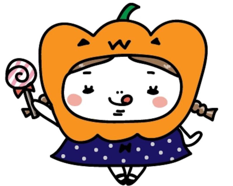 女の子 ハロウィン イラスト カラー かわいい