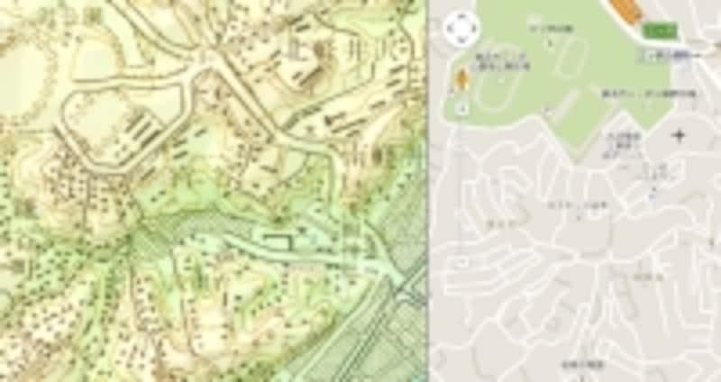 1965年以降の地形図