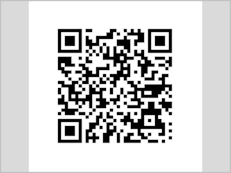 「解像度の異なる画像の表示テスト」サンプルページのQRコード