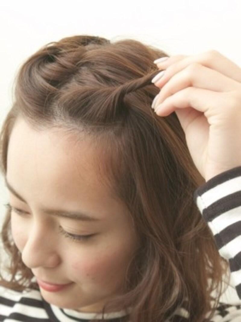 前髪が短い方でもほつれにくい