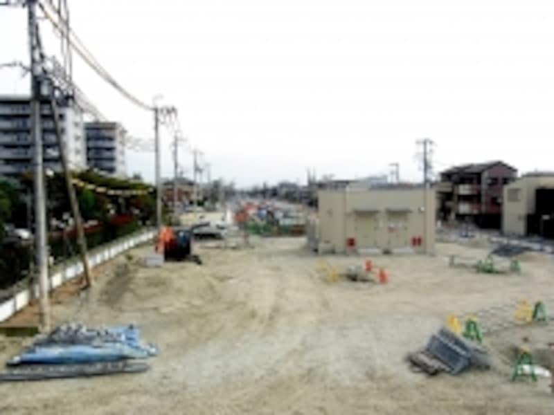 正雀、道路建設予定地