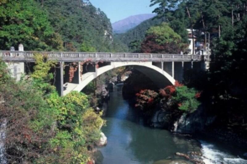 昇仙峡の下流側の入口、長潭橋