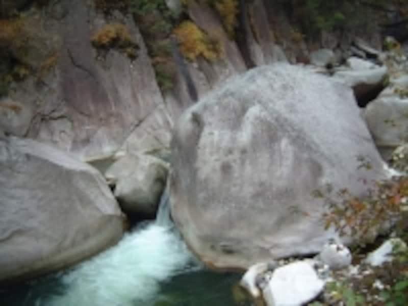 巨岩が転がる昇仙峡