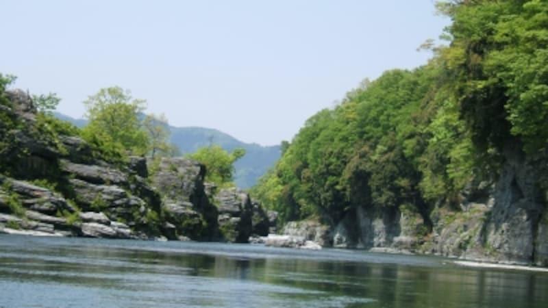 長瀞ライン下りAから見る荒川