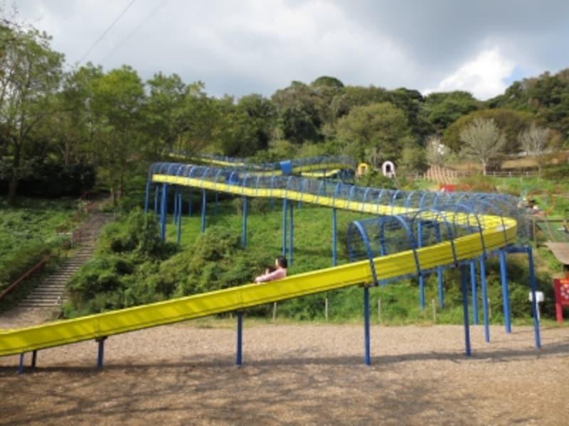 動物園に隣接する植物区にある100mのローラーすべり台(2012年10月27日撮影)