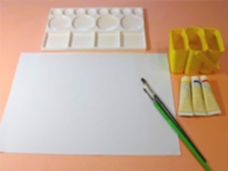 学校で使っている絵の具セットを使ってもいいね