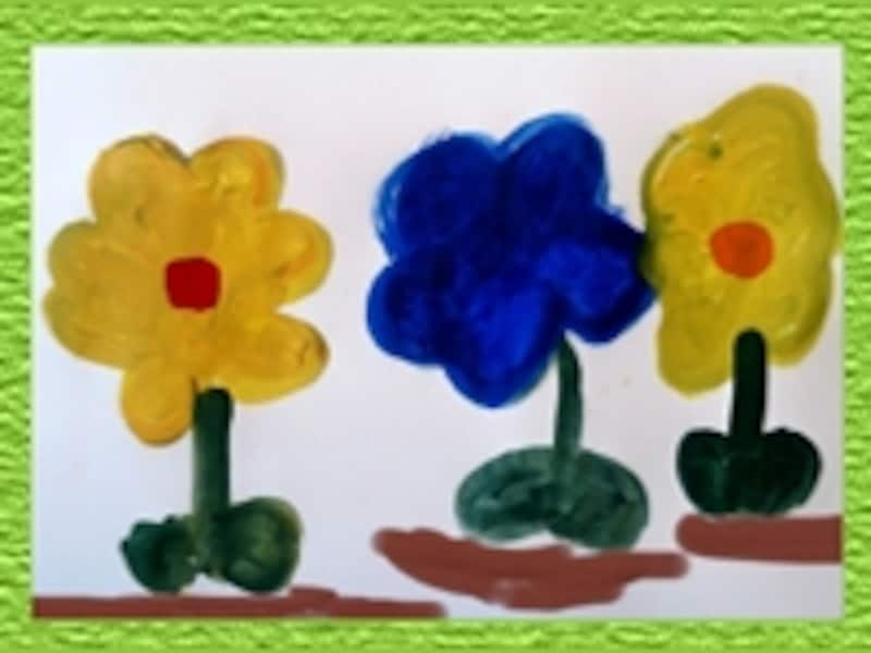色んな色の花の絵が生まれたよ