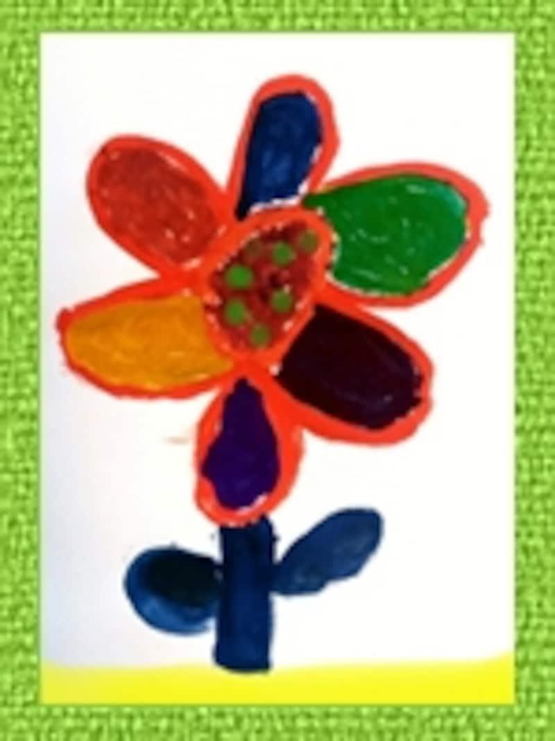 色んな色を使って素敵なお花が描けたよ