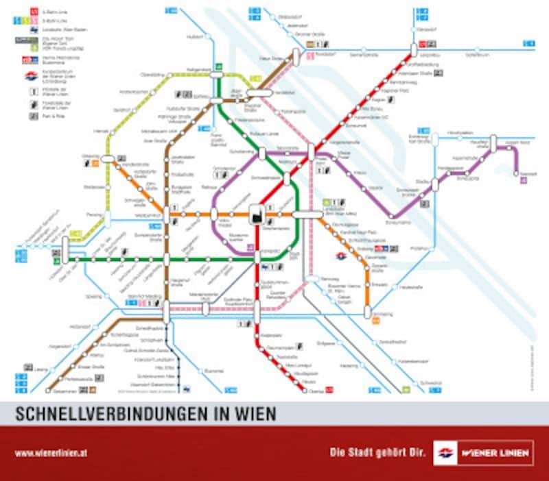 ウィーンの路線図
