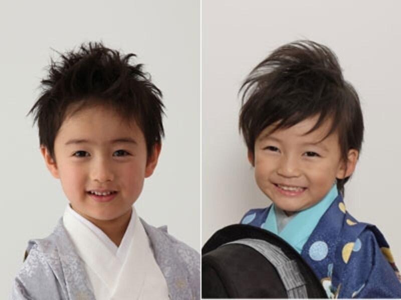 男の子の七五三の髪型・ヘアスタイルは、普段の雰囲気とガラッと変えるのがおすすめ