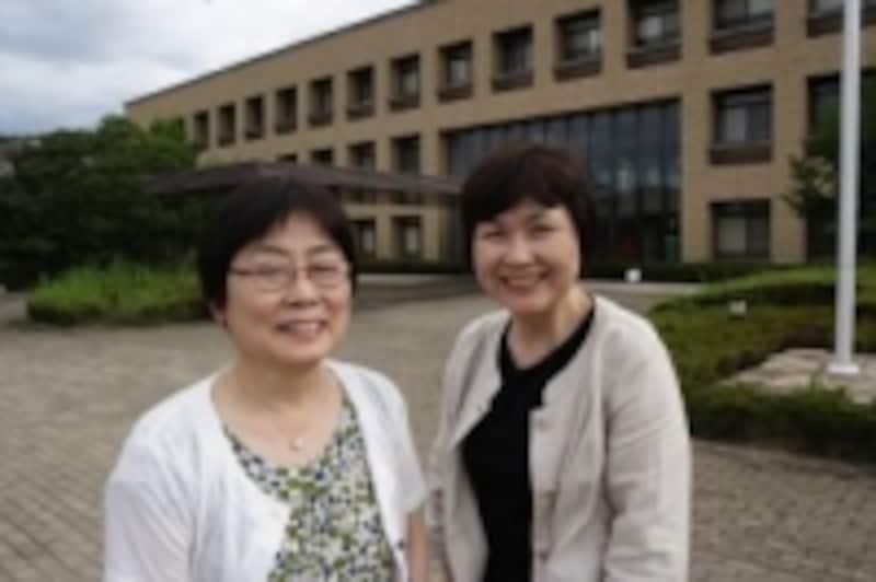 高嶋伸子教授(左)と合田加代子准教授(右)