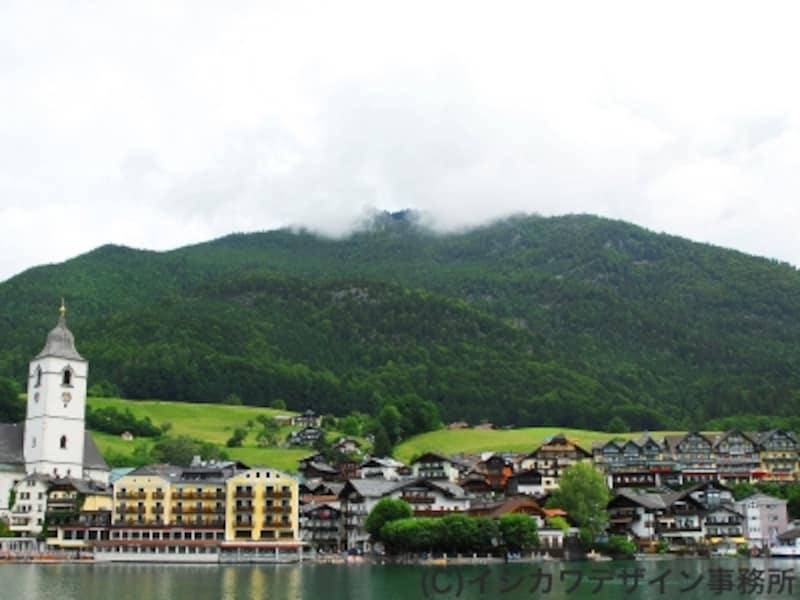 ザルツブルグ湖水地方の風景の画像