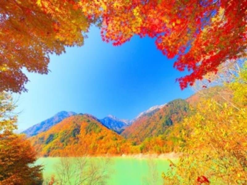 高瀬渓谷・龍神湖の紅葉