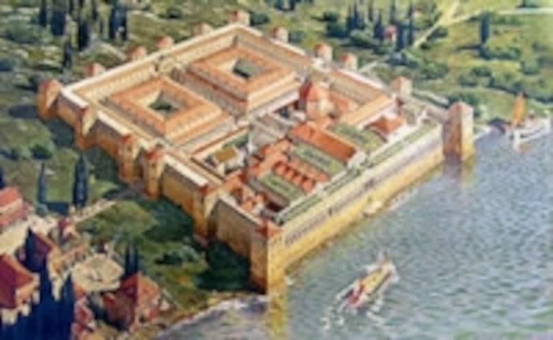 ディオクレティアヌス宮殿復元予想図
