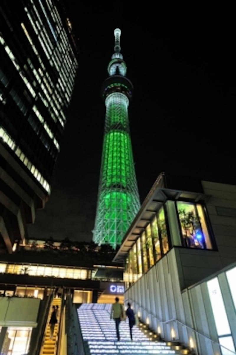東京スカイツリーのクリスマス特別ライティング