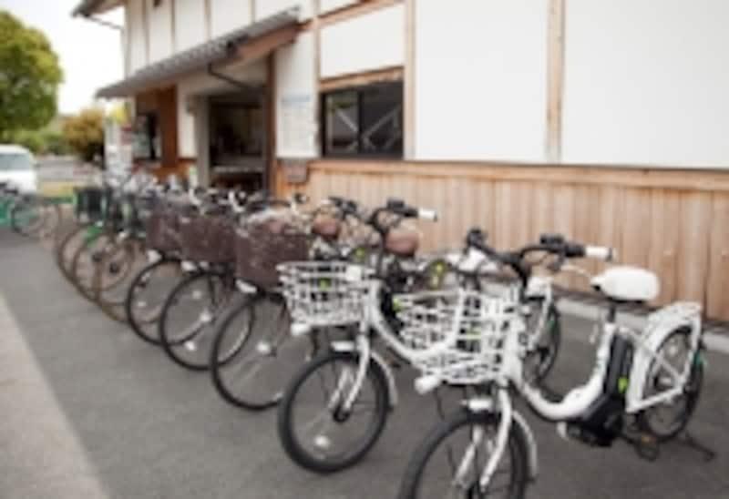 自転車なら楽チン!写真提供:明日香レンタサイクル