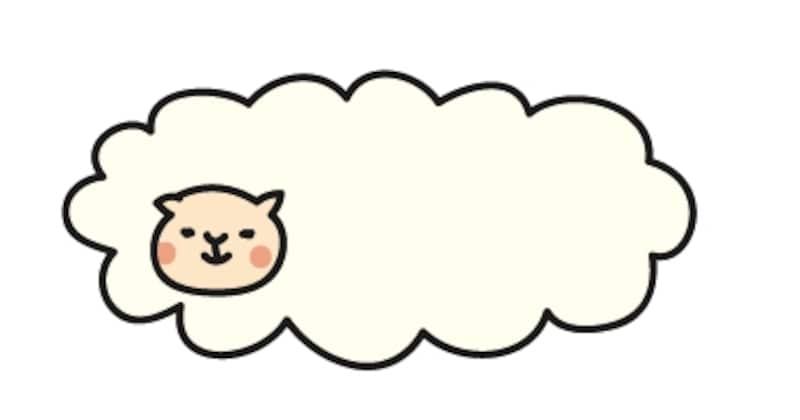 【カラー】羊雲風のもふもふ羊です。