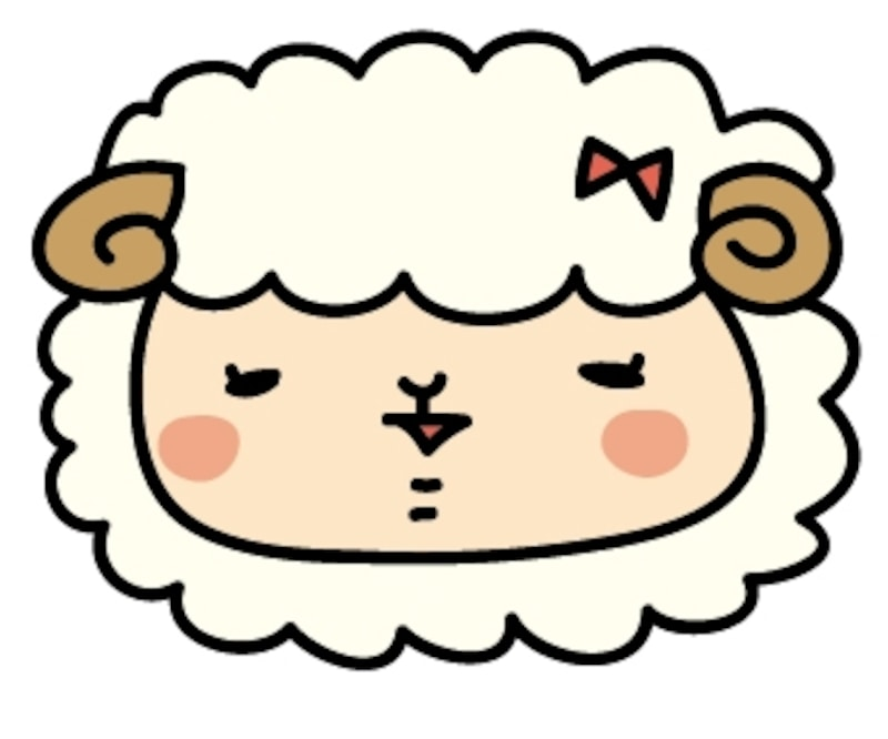 【カラー】羊の女の子です。