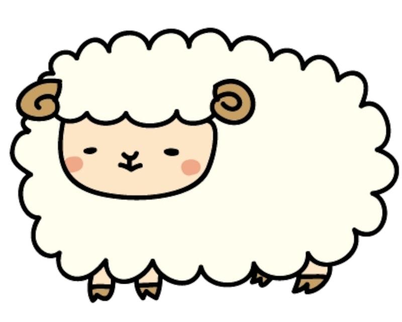 【カラー】もふもふとした可愛い羊です。