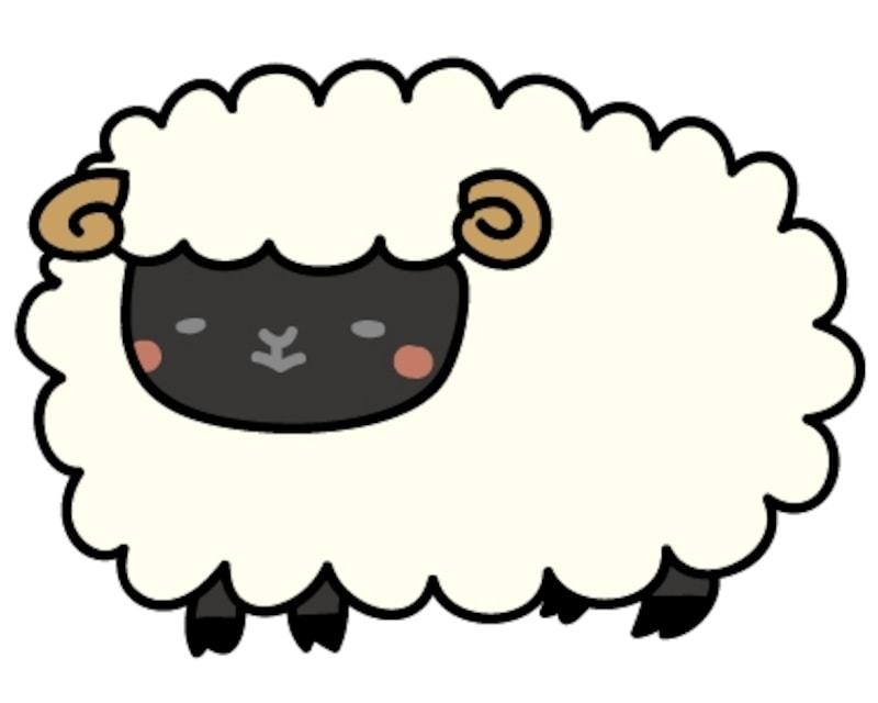 画像 12 28 羊の可愛いイラスト テンプレート 白黒 カラー Web素材 All About