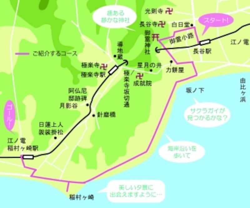 ご紹介するコースの地図