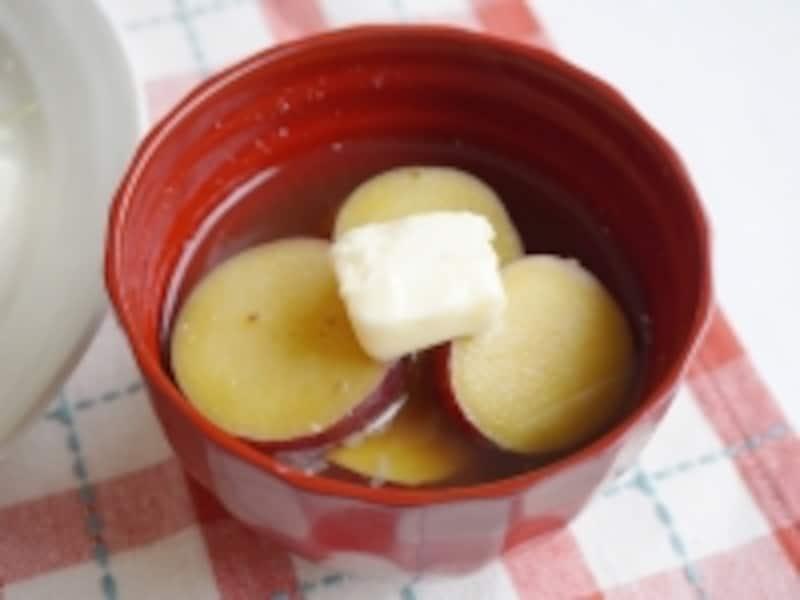 サツマイモのバター風味味噌汁