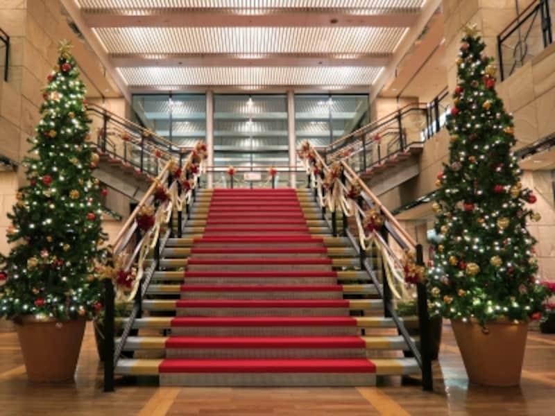 ヨコハマスカイ28階クリスマス装飾のようす