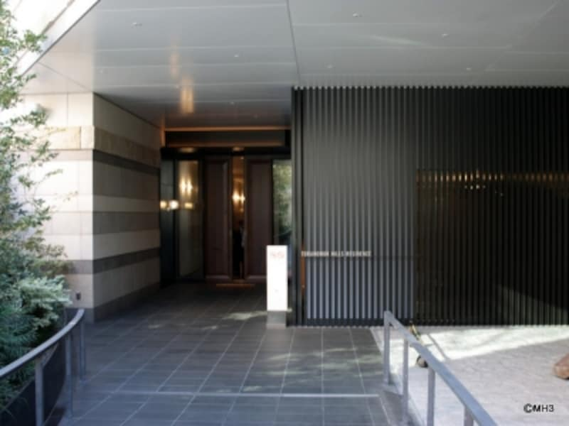 ホテル、レジデンス入口