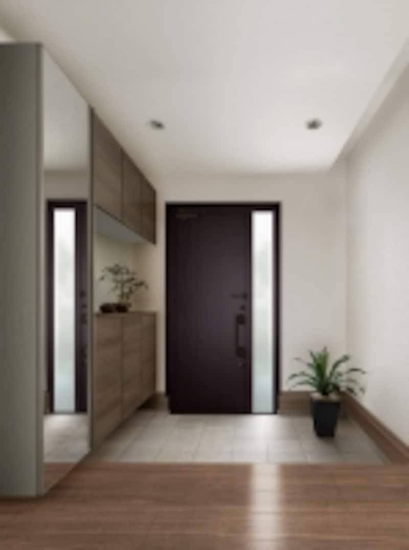 インテリアに馴染む木目調6色とミラー扉が揃う。[ラテオundefinedコの字型(フロート納まり]undefinedLIXILhttp://www.lixil.co.jp/
