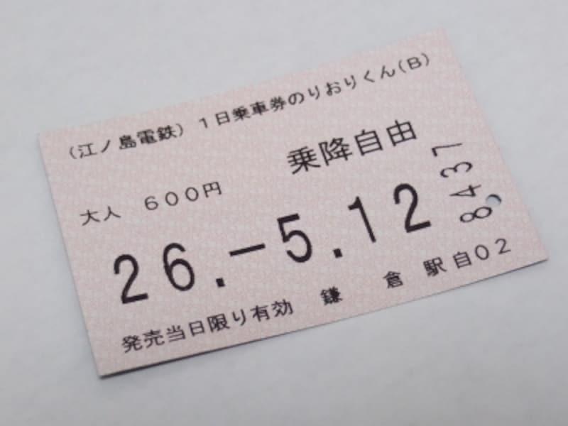 江ノ電一日乗車券『のりおりくん』