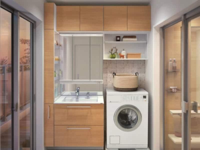 限られたスペースに収納を確保することができる洗面化粧台。[エスクアLS]undefinedundefinedTOTOundefinedhttps://jp.toto.com/