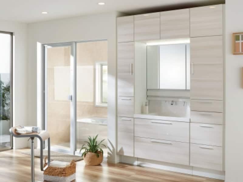 すっきりと清潔感のあるインテリアで、浴室とコーディネート。[エルシィ]undefinedLIXILundefinedhttp://www.lixil.co.jp/