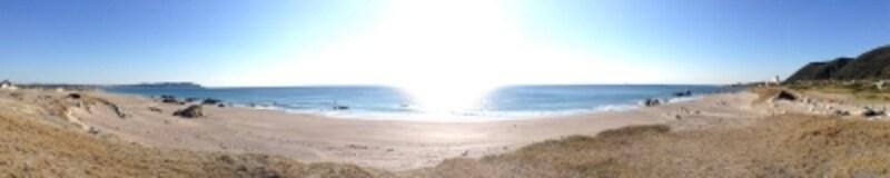 平砂浦から見た太平洋。
