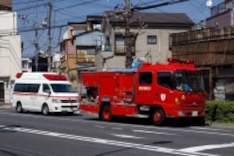 木造住宅密集地の火災でたくさんの消防車が集まった(写真はイメージ)