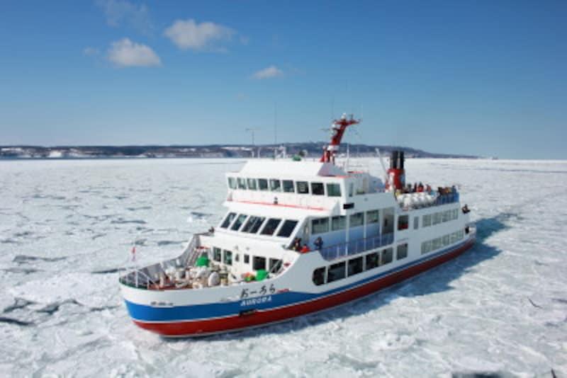 流氷,観察,流氷観察,オホーツク海,海,冬,雪,おーろら号,アザラシ,北海道