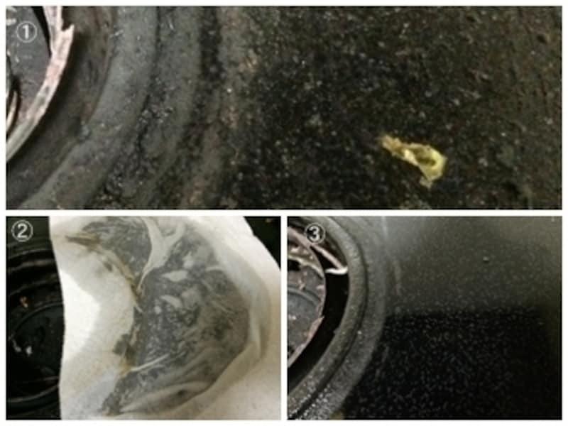 コンロの油はお湯の湿布後にマイクロファイバークロスで拭いた