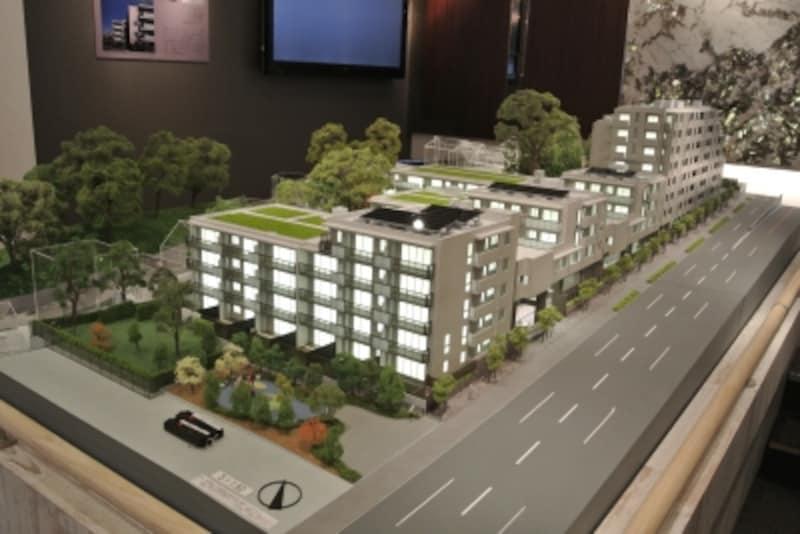 「ザ・パークハウス二子玉川ガーデン」の完成予想模型