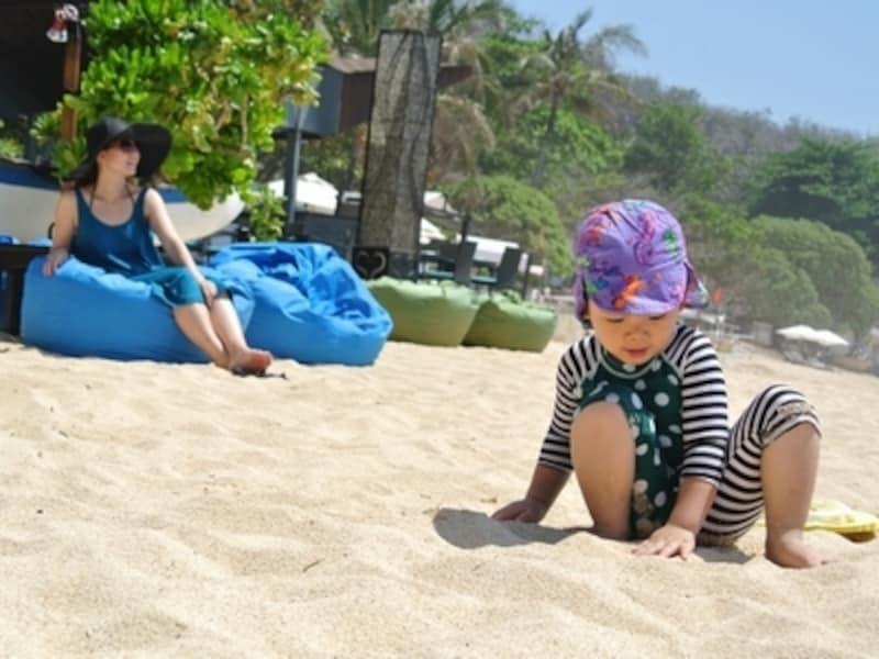 日差しがとっても強いので、大人も子どもも紫外線対策はマスト!