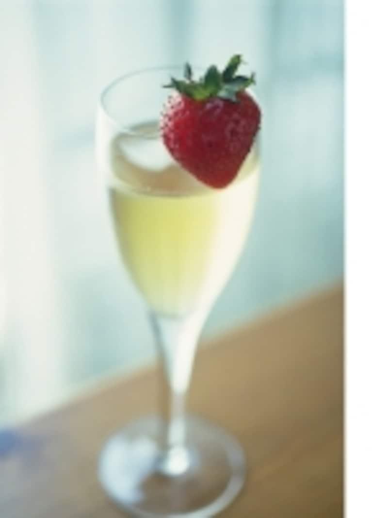 シャンパンといちご