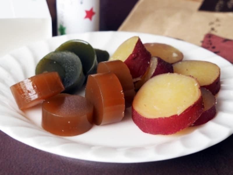 メープルと濃抹茶羊羹&五郎島金時芋