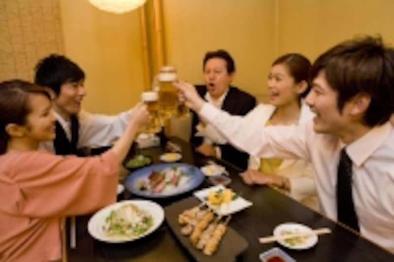 宴会での乾杯