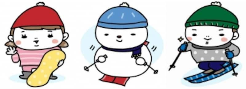 スキーなどウインタースポーツのイラストまとめ
