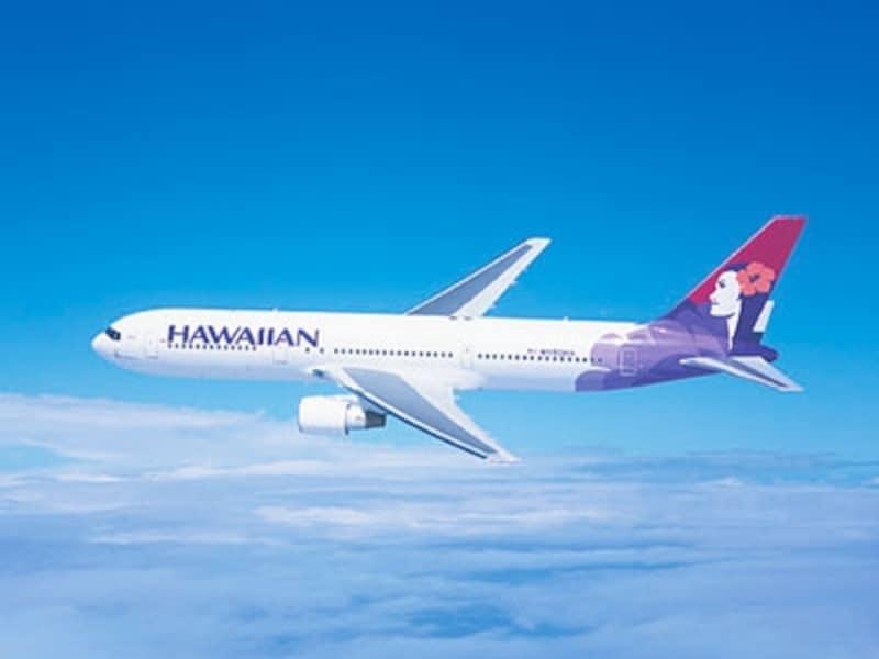初の日本直行便運航となるハワイアン航空。ハワイ島間の移動ではおなじみ