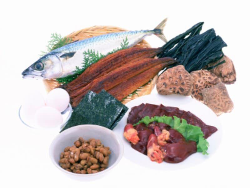 ビタミンB2は、こんな食材に多く含まれています