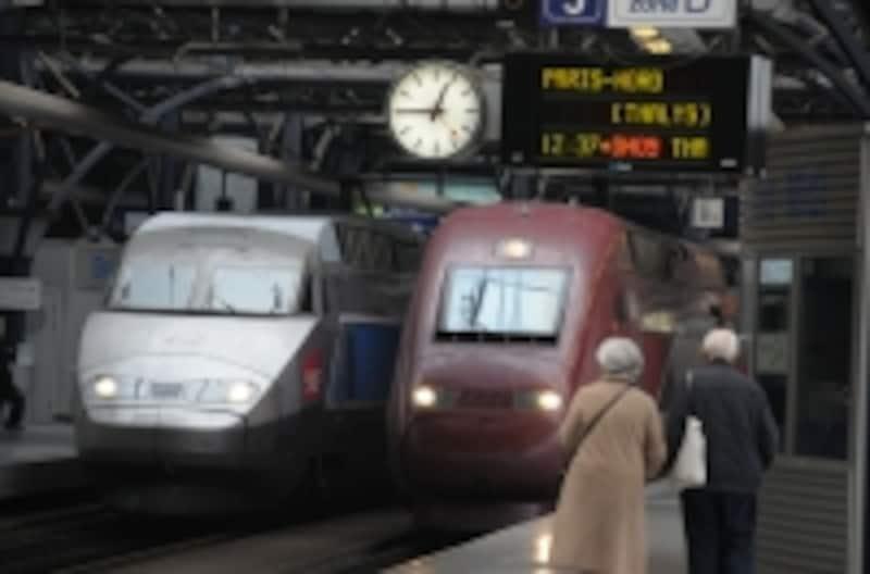 タリス、TGV、ICE、ユーロスターなどが発着する