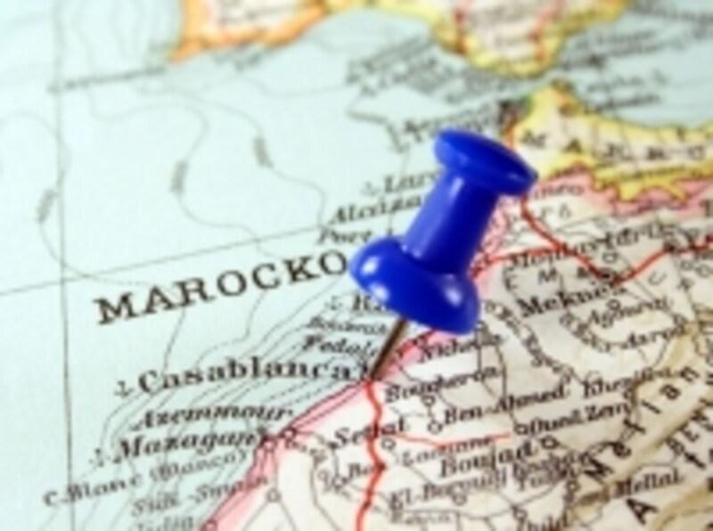 東西に国土が長いモロッコ