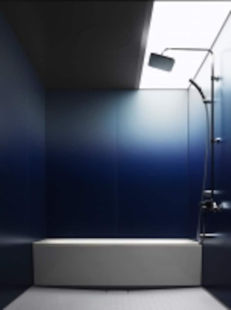 光のイメージと壁が調和する空間