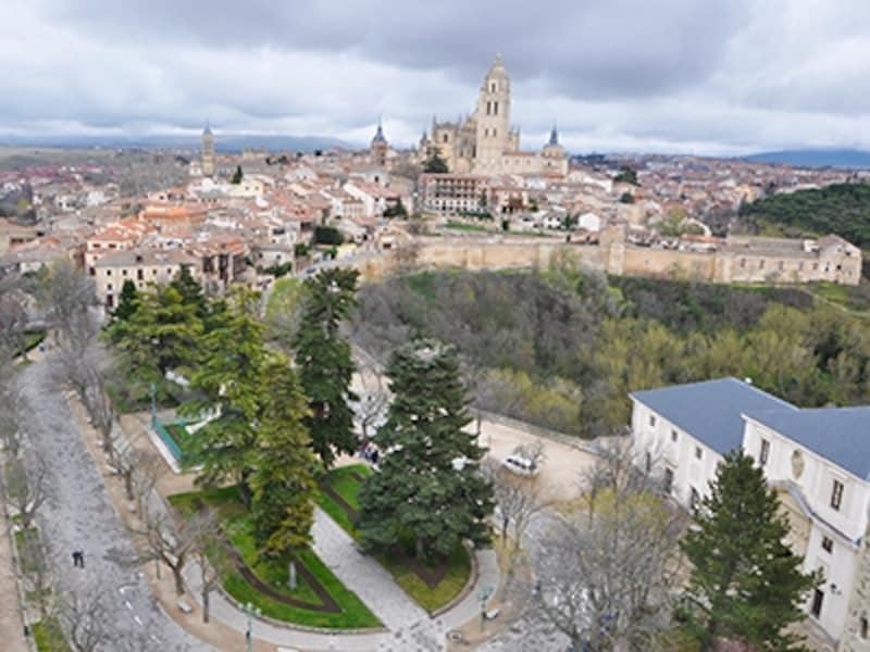 アルカサルのフアン2世の塔から眺めたセゴビア旧市街