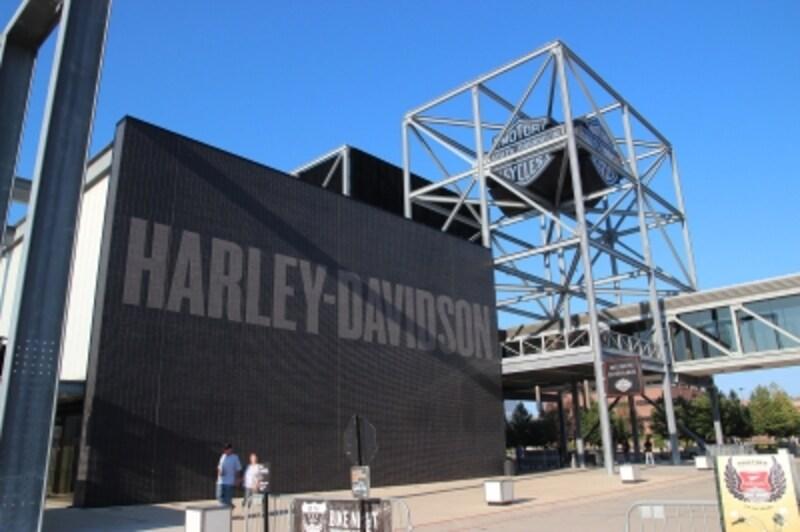 ハーレー本社が居を構える米ウィスコンシン州ミルウォーキーのハーレーダビッドソンミュージアム