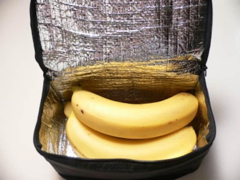 バナナの保存法:保冷バックに入れて冷蔵庫で保存